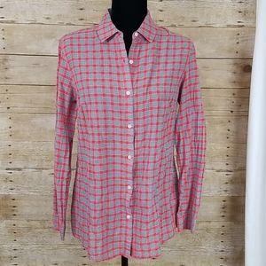 J. McLaughlin Plaid Long Sleeve Button Shirt